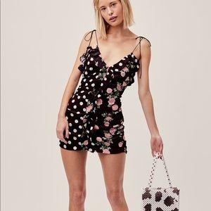 BNWT FL&L Mochi Dress in Noir Roses
